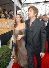 Angelina Jolie and Brad Pitt walk the Red Carpet in 2008